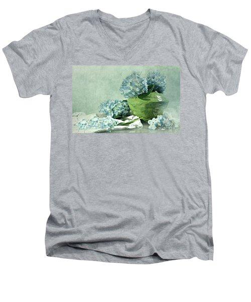 Hydra Blues Men's V-Neck T-Shirt by Diana Angstadt