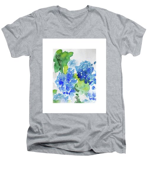 Hydranga Men's V-Neck T-Shirt