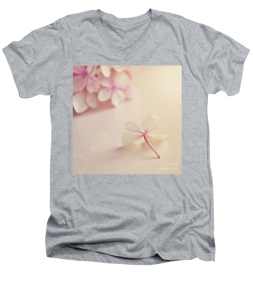 Men's V-Neck T-Shirt featuring the photograph Hydrangea Flower by Lyn Randle