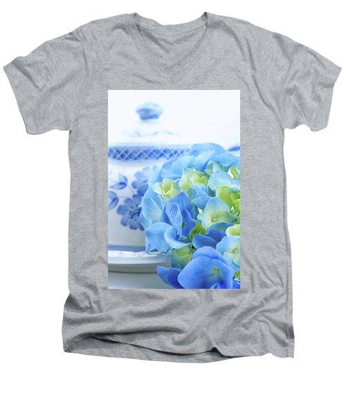 Hydrangea Memories Men's V-Neck T-Shirt