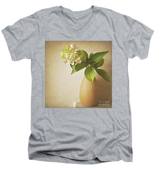 Hydrangea With Leaves Men's V-Neck T-Shirt