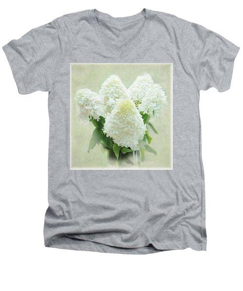 Hydrangeas Men's V-Neck T-Shirt