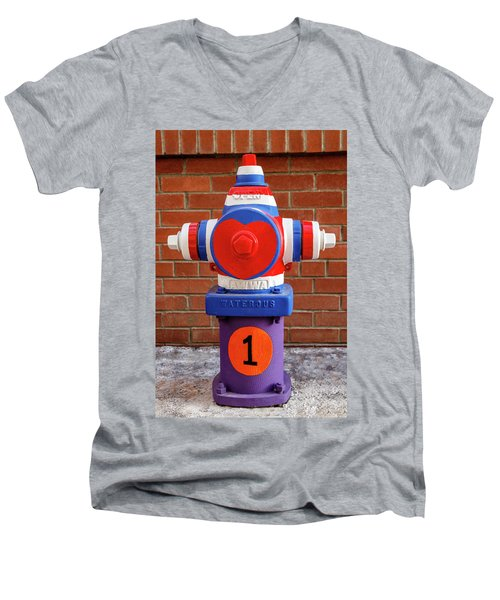 Hydrant Number One Men's V-Neck T-Shirt by James Eddy