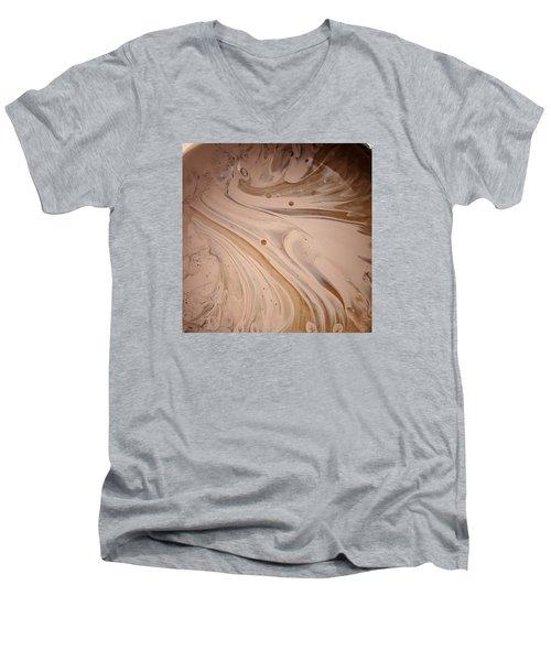 Hydro Magnito Meat Raisin Men's V-Neck T-Shirt by Gyula Julian Lovas