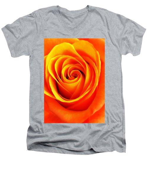 Hypnotic Orange Men's V-Neck T-Shirt