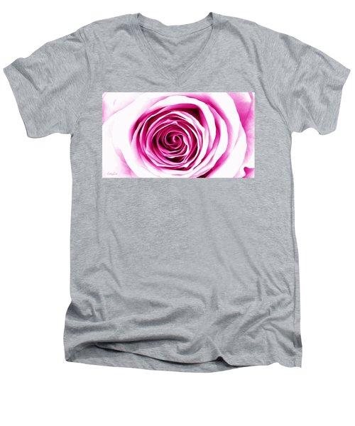 Hypnotic Pink Men's V-Neck T-Shirt