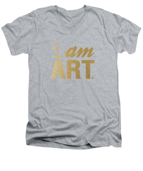I Am Art- Gold Men's V-Neck T-Shirt