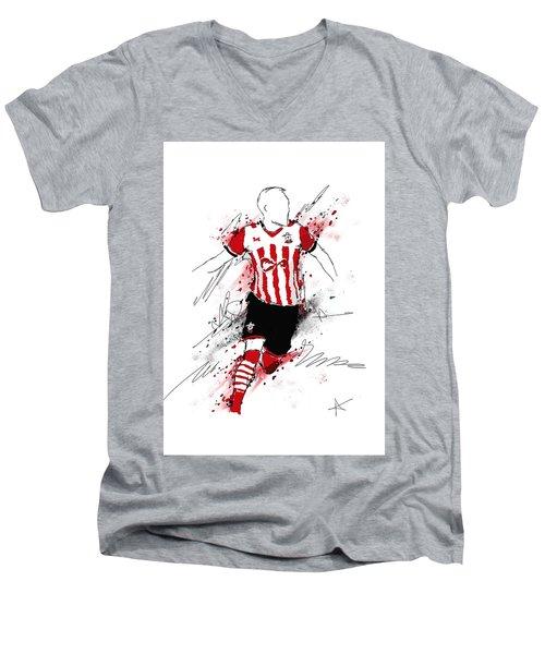 I Am Red And White Stripes Men's V-Neck T-Shirt