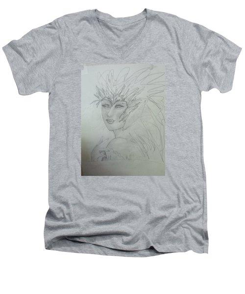 I Am The Phoenix Men's V-Neck T-Shirt by Sharyn Winters