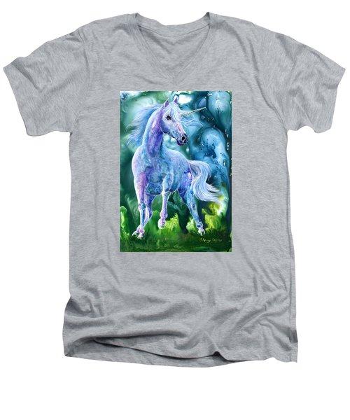 I Dream Of Unicorns Men's V-Neck T-Shirt by Sherry Shipley