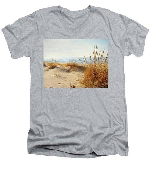 I Hear You Coming  Men's V-Neck T-Shirt