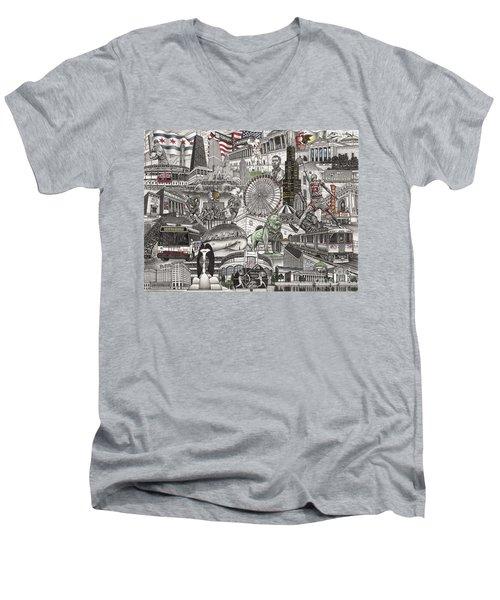 I Love Chicago Volume 2 Men's V-Neck T-Shirt