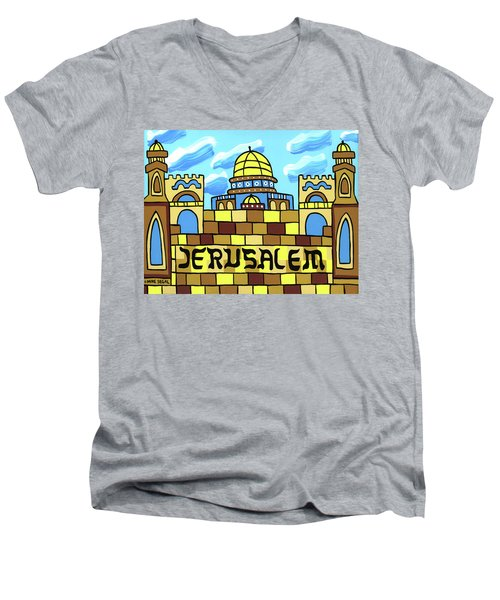 I Love Jerusalem Men's V-Neck T-Shirt