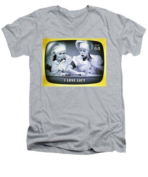 I Love Lucy Men's V-Neck T-Shirt