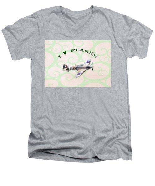 I Love Planes - Hurricane Men's V-Neck T-Shirt