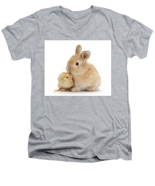 I Love To Kiss The Chicks Men's V-Neck T-Shirt