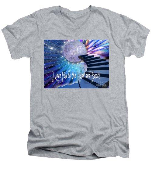 I Love You To The Moon And Back Men's V-Neck T-Shirt