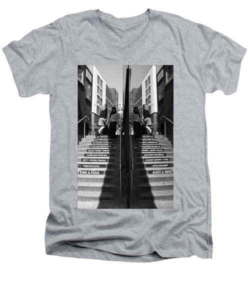 I Saw A Man Men's V-Neck T-Shirt