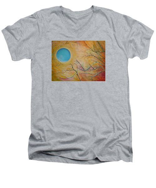 I Saw You Standing Alone Men's V-Neck T-Shirt by Dan Whittemore