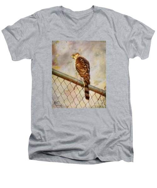 Men's V-Neck T-Shirt featuring the photograph I See You by Rhonda Strickland