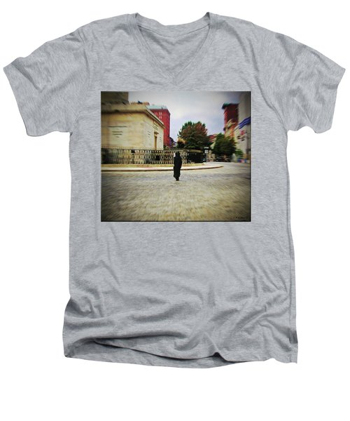 Men's V-Neck T-Shirt featuring the photograph I Walk Alone by Brian Wallace