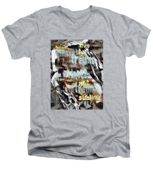 Mistaken Identity-i Will Be Silent No More Men's V-Neck T-Shirt