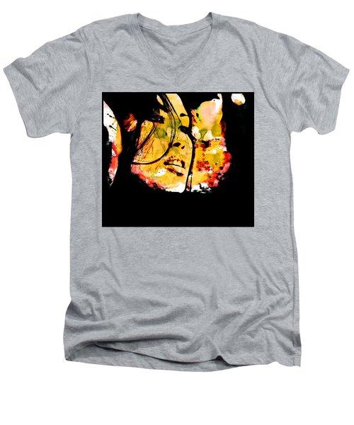 Inexorably, Time Moves Men's V-Neck T-Shirt