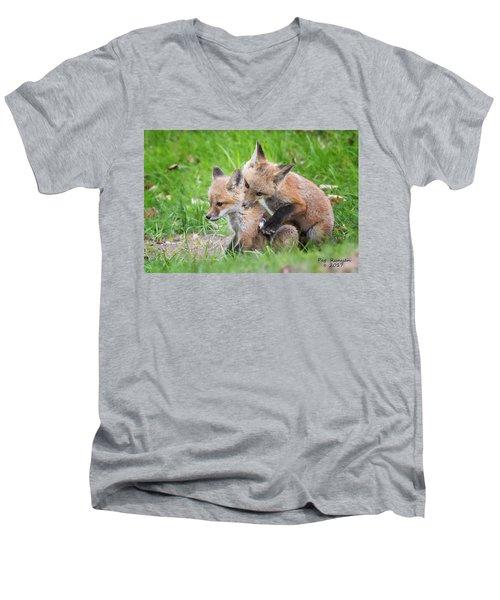 I Wuv You  Men's V-Neck T-Shirt