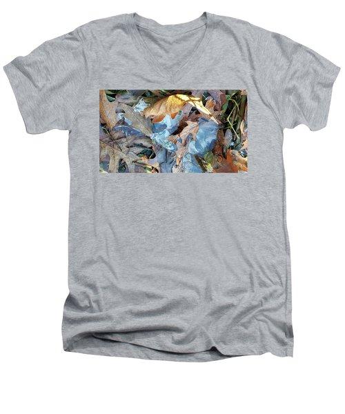 Ice And Fallen Leaves Men's V-Neck T-Shirt