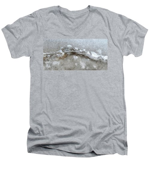 Ice And The Beach Four  Men's V-Neck T-Shirt by Lyle Crump