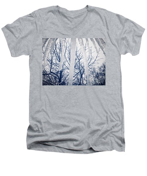 Men's V-Neck T-Shirt featuring the photograph Ice Bars by Robert Knight