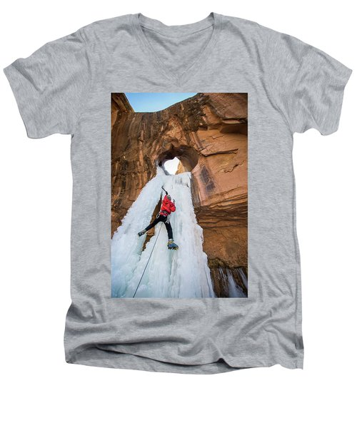 Ice Climber Men's V-Neck T-Shirt