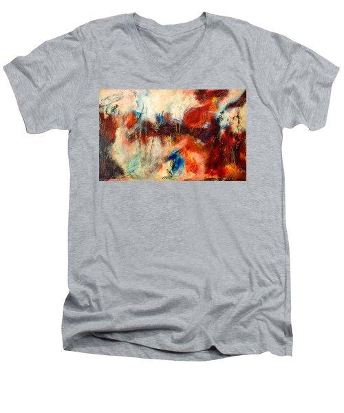 Ice Cream From Ear To Ear Men's V-Neck T-Shirt by Tracy Bonin