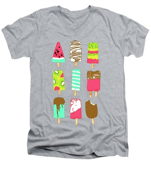 Ice Cream Time Men's V-Neck T-Shirt