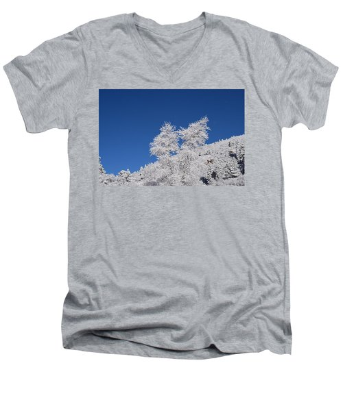 Ice Crystals Ute Pass Cos Co Men's V-Neck T-Shirt