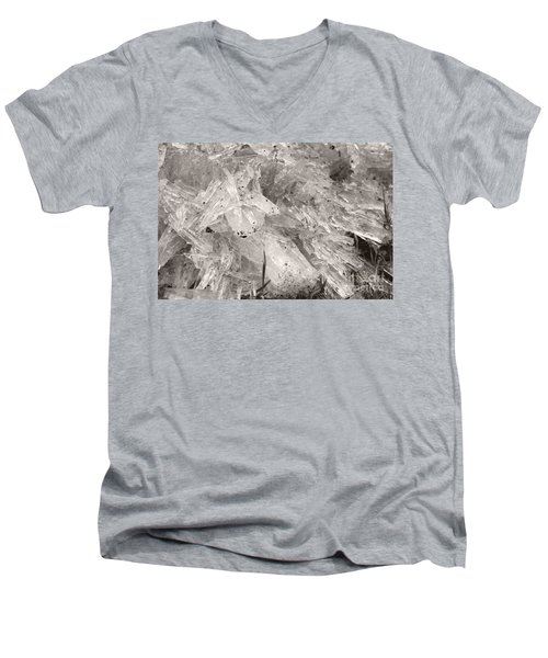 Ice Crystals Men's V-Neck T-Shirt by Heather Kirk