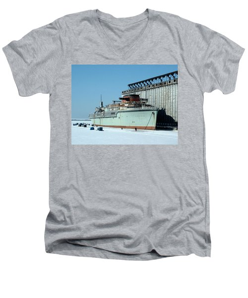 Ice Fishing On Lake Erie Men's V-Neck T-Shirt