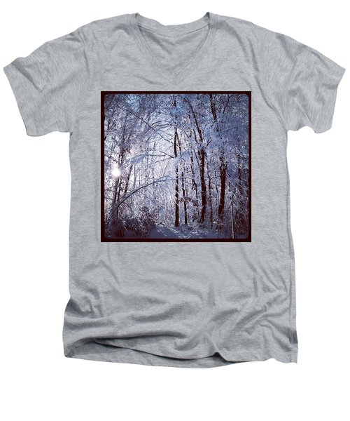 Ice Ladened Forest Men's V-Neck T-Shirt