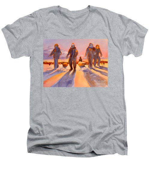 Ice Men Come Home Men's V-Neck T-Shirt by Kathy Braud
