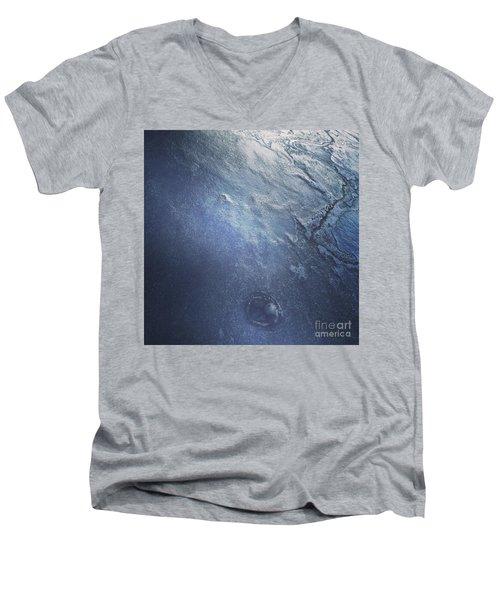 Ice Texture Men's V-Neck T-Shirt by Jason Nicholas
