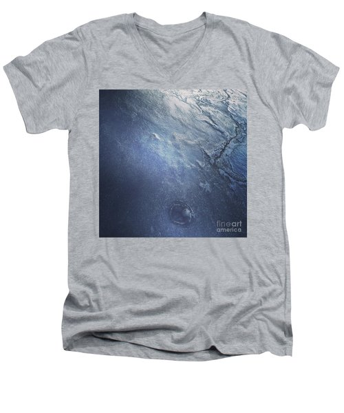 Ice Texture Men's V-Neck T-Shirt