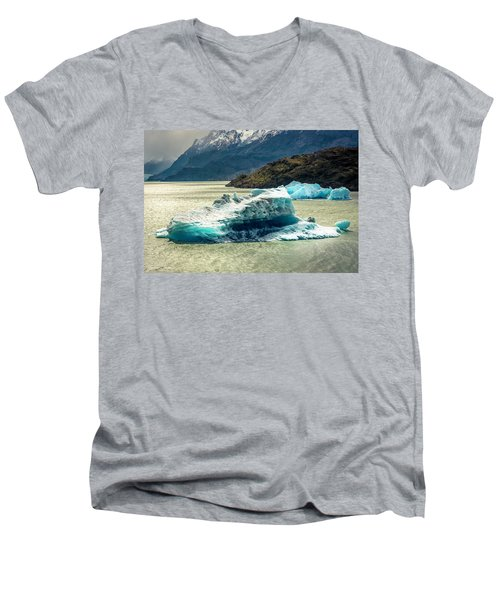 Men's V-Neck T-Shirt featuring the photograph Iceberg by Andrew Matwijec