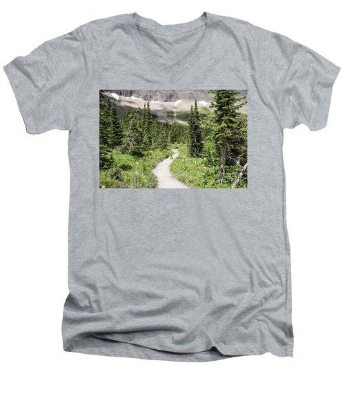 Iceberg Lake Trail Forest Men's V-Neck T-Shirt