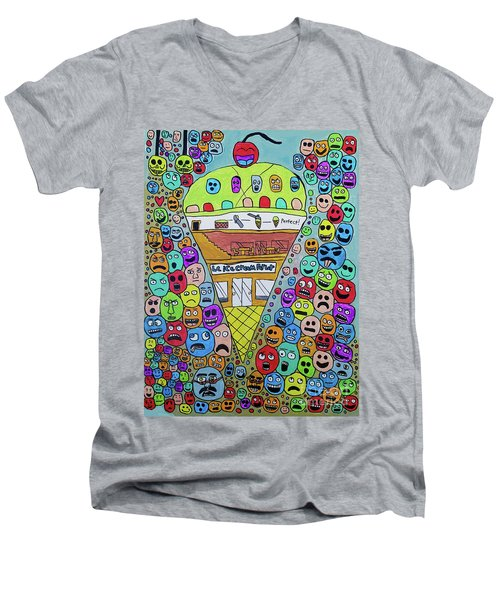 Icecream Parlor Men's V-Neck T-Shirt