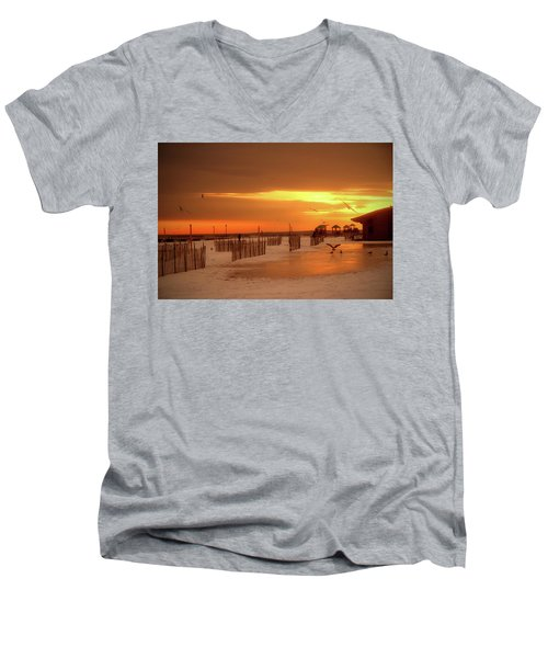 Iced Sunset Men's V-Neck T-Shirt