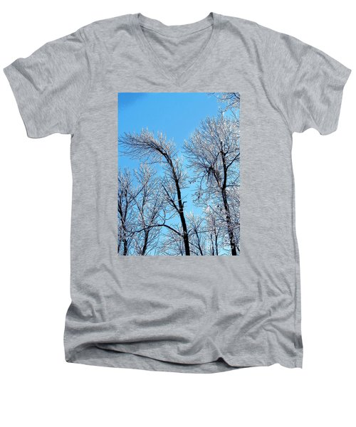 Iced Trees Men's V-Neck T-Shirt by Craig Walters