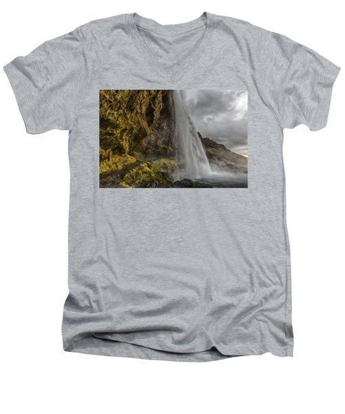 Iceland Waterfall Men's V-Neck T-Shirt