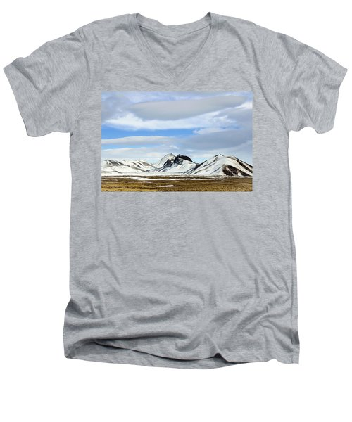 Icelandic Wilderness Men's V-Neck T-Shirt