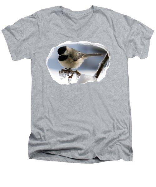 Icicle Perch Men's V-Neck T-Shirt by Karen Beasley