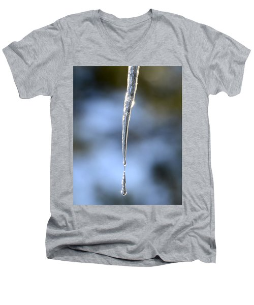 Icicles In Bloom Men's V-Neck T-Shirt